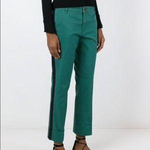Tory Burch Audrey Cuffed Side Stripe Pants